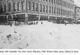 Liberty & Court streets in Salem, Oregon, in snow storm, 1937