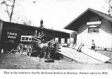 Southern Pacific Railroad Station at Macleay, Oregon, 1913