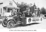 Brotherhood of American Yeomen float in the Salem, Oregon, Cherry Fair parade, 1913