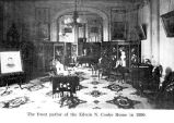 Front parlor of Cooke-Patton House in Salem, Oregon, 1890