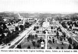 Willson Park and westward from the Oregon State Capitol , Salem, Oregon, 1906