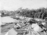 Indian Encampment in Bellingham Bay in Puget Sound, Washington