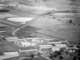 Aerial view of the Oregon State Penitentiary at Salem, Oregon, June 1947