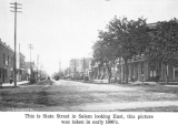 Looking eastward on  State Street from Commercial Street in the early 1900's, Salem, Oregon