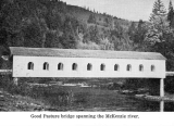 Goodpasture Covered Bridge over the McKenzie River in Lane County, Oregon, 1960